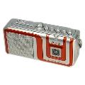 eiYAAA FM/AMラジオカセットレコーダープレーヤー/オレンジ