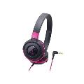 audio-technica ポータブルヘッドホン ATH-S100 Black Pink