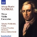 Vanhal: Three Violin Concertos / Nishizaki, Mueller-Bruehl