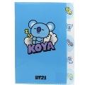 BT21 5インデックス クリアファイル/KOYA