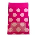 タワレコ 推し色ラッピング袋 Pink(水玉)