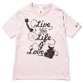 133 THE BAWDIES NO MUSIC, NO LIFE. T-shirt (グリーン電力証書付) Baby Pink/XLサイズ