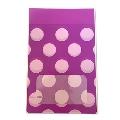タワレコ 推し色ラッピング袋 Purple(水玉)