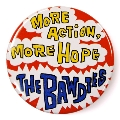 THE BAWDIES MORE ACTION, MORE HOPE. チャリティー缶バッジ