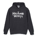 Hollywood Vampires Logo Print Sweat Hoodie Black SIZE XL