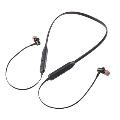 NAGAOKA Bluetooth5.0対応 ネックバンド型ワイヤレスイヤホン BT820BK ブラック