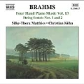 Brahms: Four Hand Piano Music Vol.13