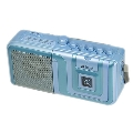 eiYAAA FM/AMラジオカセットレコーダープレーヤー/ブルー