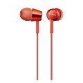 SONY 密閉型インナーイヤーレシーバー MDR-EX155/Red