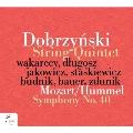 モーツァルト=フンメル: 交響曲第40番、ドブジンスキ: 弦楽五重奏曲第1番