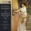 パリー: 英国抒情歌曲集 第3集