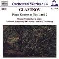 Orchestral Works Vol 14 - Glazunov: Piano Concertos 1 & 2