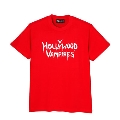 Hollywood Vampires Logo Print Tee RED SIZE L