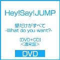 愛だけがすべて -What do you want?- [DVD+CD]<通常盤>