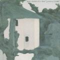 green shadow,white door
