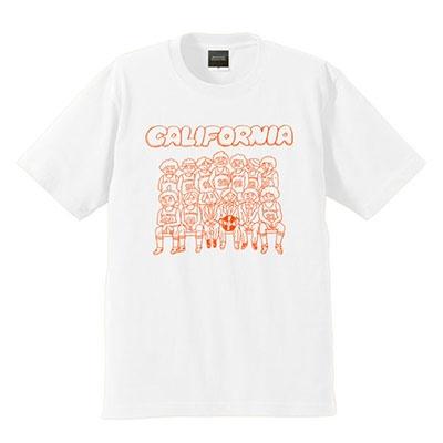 カリフォルニア バスケットボール T-shirt ホワイト Sサイズ [MD01-2060]