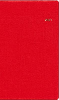 高橋書店 手帳は高橋 T'mini (ティーズミニ) 4 [レッド] 手帳 2021年 手帳判 ウィークリー 皮革調 レッド No.150 (2021年版1月始まり)[9784471801502]