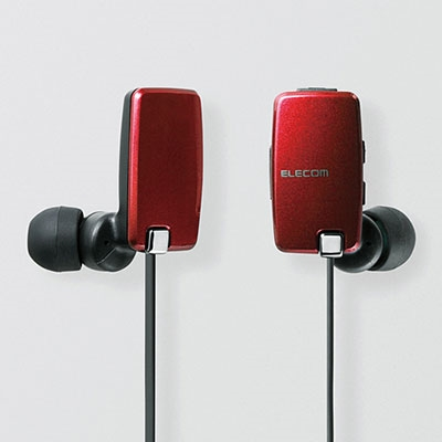 ELECOM aptX搭載 マイク付Bluetoothイヤホン/Red [LBTHP05NMPRD]
