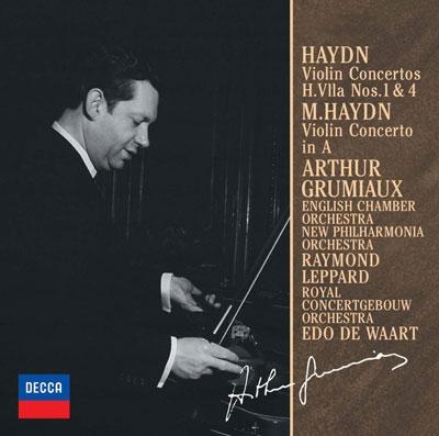アルテュール・グリュミオー/J.ハイドン:ヴァイオリン協奏曲第1番・第4番/M.ハイドン:ヴァイオリン協奏曲<限定盤>[UCCD-9844]