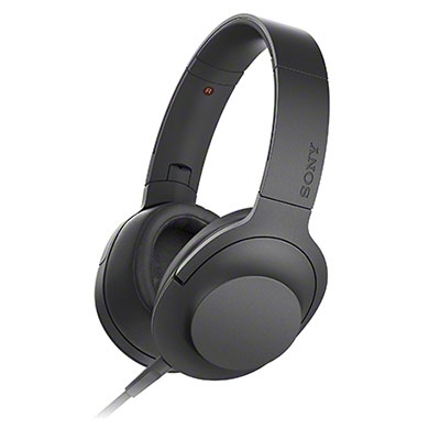 SONY ハイレゾ対応 ヘッドホン h.ear on MDR-100A チャコールブラック [MDR100ABC]