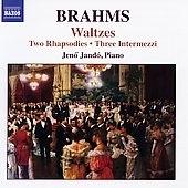 イェネ・ヤンドー/Brahms: 2 Rhapsodies Op.79/3 Intermezzi Op.117/16 Waltzes Op.39/etc:Jeno Jando(p)[8570290]