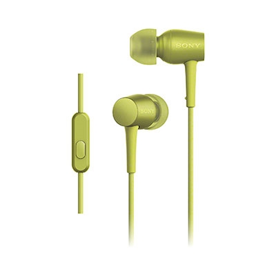 SONY ハイレゾ対応 リモコン付イヤホン h.ear in MDR-EX750AP ライムイエロー [MDREX750APYM]