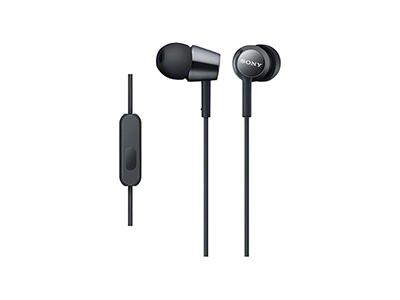 SONY スマートフォン用密閉型インナーイヤーレシーバー(リモコン付) MDR-EX150AP/Black [MDREX150APBQ]