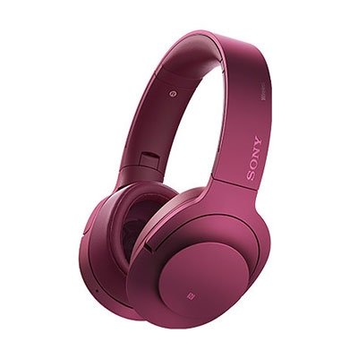 SONY ハイレゾ対応 ヘッドホン h.ear on Wireless NC MDR-100ABN ボルドーピンク [MDR100ABNPM]