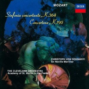クリストフ・フォン・ドホナーニ/モーツァルト:協奏交響曲K.364/コンチェルトーネ<限定盤>[UCCD-90002]