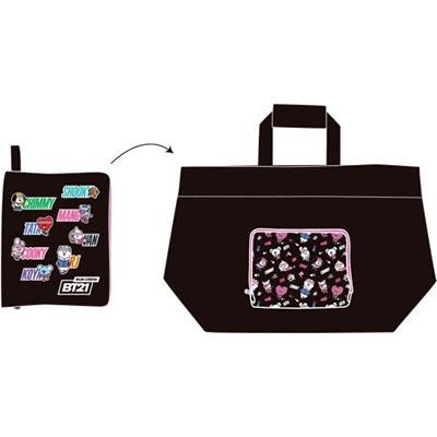 BT21 キャリーオン トラベルバッグ SPORTS(ブラック) Accessories