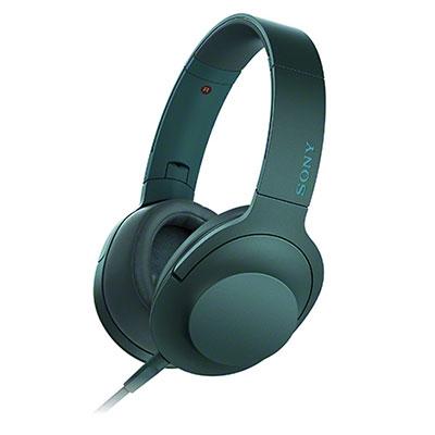 SONY ハイレゾ対応 ヘッドホン h.ear on MDR-100A ビリジアンブルー [MDR100ALC]