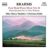 Brahms:Four Hands Piano Music Vol.14:Piano Quartet No.2 [8554821]