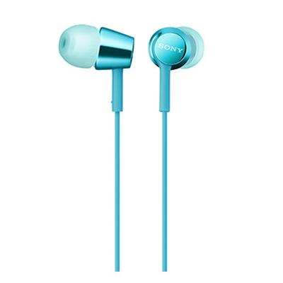 SONY スマートフォン用密閉型インナーイヤーレシーバー(リモコン付) MDR-EX155AP/Light Blue [MDREX155APL]