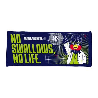 NO SWALLOWS, NO LIFE. 2019 ディスコ つば九郎 フェイスタオル[MD01-4653]