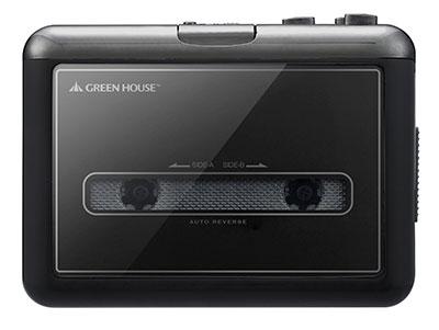 グリーンハウス カセットテープ変換プレーヤー GH-CTPB-BK microSDタイプ Accessories