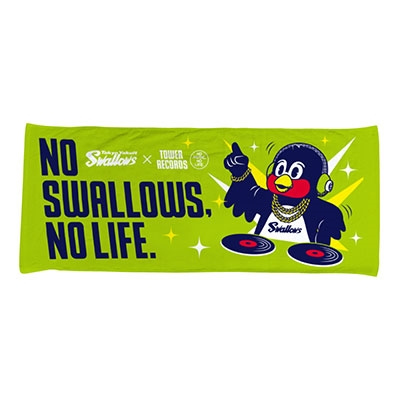 NO SWALLOWS, NO LIFE. 2019 DJ つば九郎 フェイスタオル[MD01-4644]