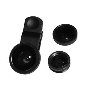スマートフォン用 3in1 ユニバーサルクリップレンズ Black[GZL01BK]