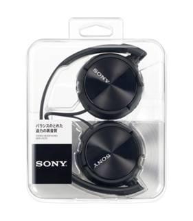 SONY ステレオヘッドホン MDR-ZX310 ブラック [MDRZX310B]