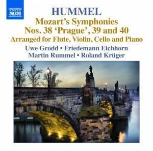 ウーヴェ・グロット/Hummel: Mozart's Symphonies No.38-No.40[8572841]