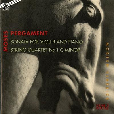 SPARF/FORSBERG/LYSELL Q/Moses Pergament: Violin Sonata; String Quartet No.1[PSCD711]