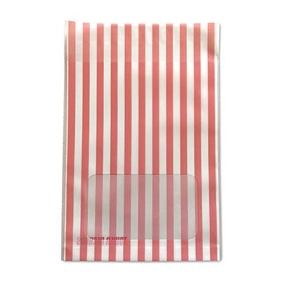 タワレコ 推し色ラッピング袋 Red(ストライプ)[MD01-5588]