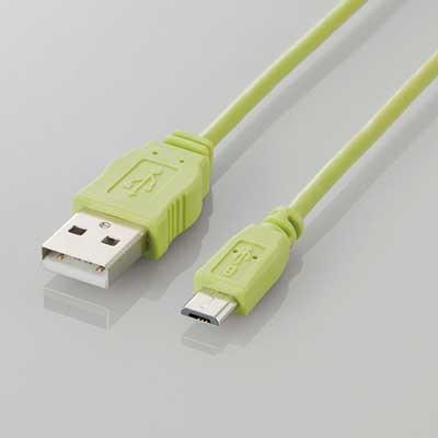 ELECOM microUSBケーブル 1.2m/Green[MPA-AMBCL12GN]