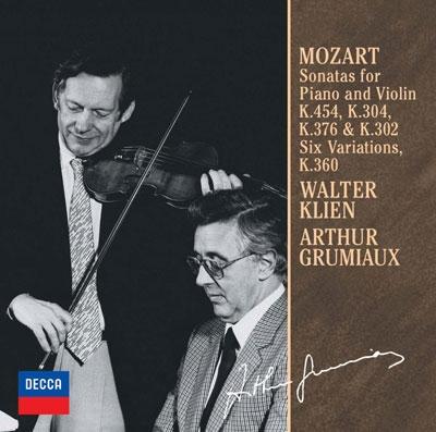 アルテュール・グリュミオー/モーツァルト:ヴァイオリン・ソナタ第26・28・32・40番 <泉のほとりで>による6つの変奏曲<限定盤>[UCCD-9857]