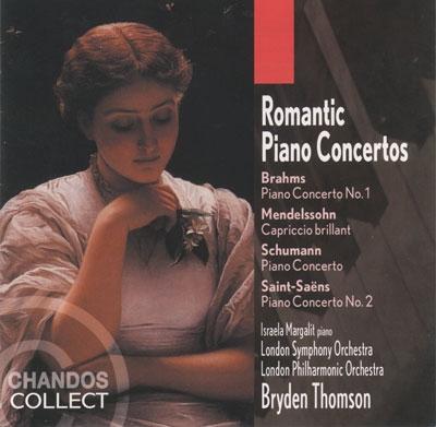 Romantic Piano Concertos - Brahms, Schumann, etc / Margalit