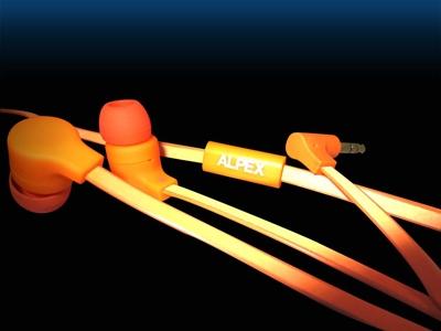 ALPEX リフレクターイヤフォン AHP-111 Orange [AHP-111OR]