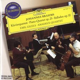 エミール・ギレリス/Brahms: Piano Quartet No.1 Op.25 (12/1970), Ballades Op.10 (9/1975) / Emil Gilels(p), Amadeus Quartet, etc[4474072]