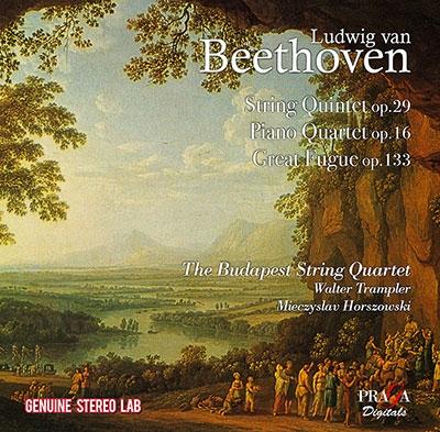 ベートーヴェン: 弦楽五奏曲Op.29、ピアノ四重奏曲Op.16、大フーガOp.133