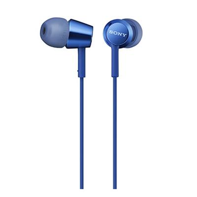 SONY スマートフォン用密閉型インナーイヤーレシーバー(リモコン付) MDR-EX155AP/Blue [MDREX155APLI]