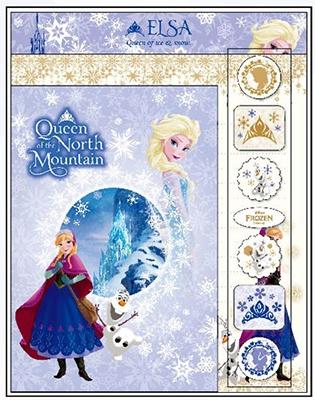 アナと雪の女王 レターセット ネイビー&ゴールド [SANS441221]