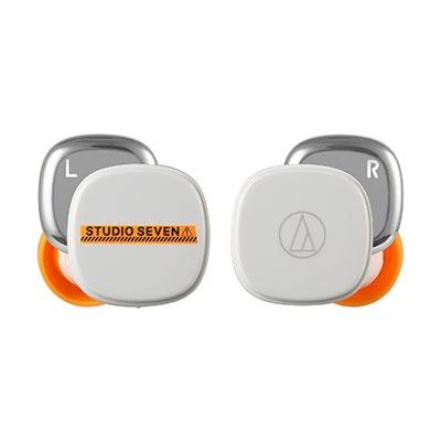 audio-technica×STUDIO SEVEN 完全ワイヤレスイヤホン/White Headphone/Earphone